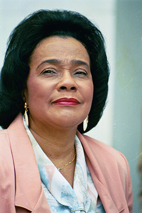 Coretta Scott King at the 30th anniversary of the March on Washington, 1993