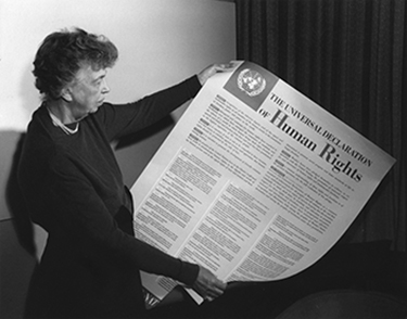 Roosevelt with the Universal Declaration of Human Rights